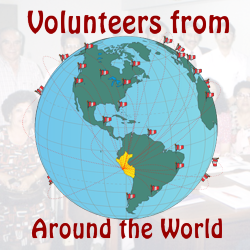 Volunteers around the world